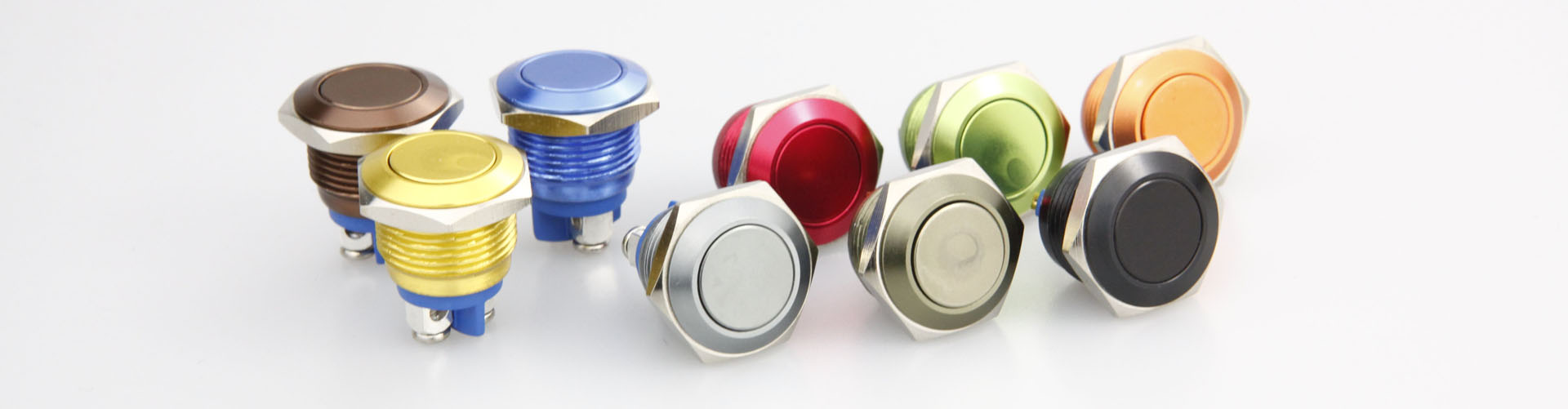 anodized colorful push button switch